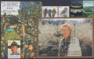 5 pcs stamps and 2 pcs blocks, 5 db bélyeg és 2 db blokk