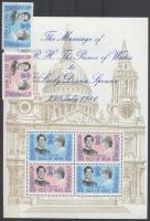 1981 Hercegi esküvő sor Mi 194-195 + blokk 5 + FDC