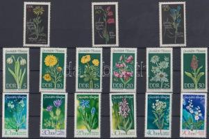 1966 + 1969-1970 Védett gyógynövények (I-III) Mi 1242-1244 + 1456-1461 + 1563-1568