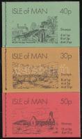 1974 Látképek 3 db bélyegfüzet Mi MH 0-5, 0-6, 0-7