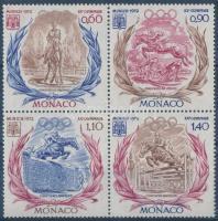 1972 Müncheni nyári olimpia sor négyestömbben Mi 1045-1048