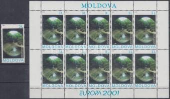 2001 Europa CEPT: Éltető víz bélyeg + kisív Mi 388