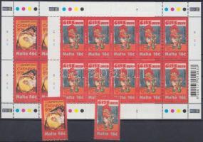 2003 Europa CEPT: Plakátművészet sor + kisív pár Mi 1274-1275