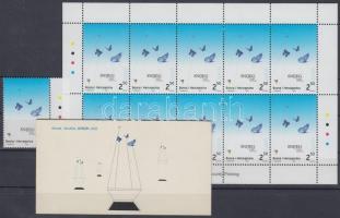 2003 Europa CEPT: Plakátművészet ívszéli bélyeg + kisív + bélyegfüzet Mi 301