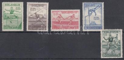 1950 Atlétika EB sor Mi 867-871 (Mi EUR 90.-)