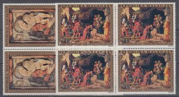 1972 Karácsony sor négyestömbökben Mi 667-668