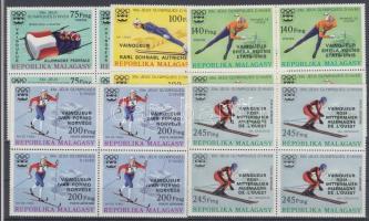 1976 Olimpiai éremgyőztesek sor négyestömbökben felülnyomással Mi 802-806