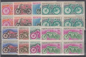 1969 Motorkerékpárok sor négyestömbökben Mi 184-191