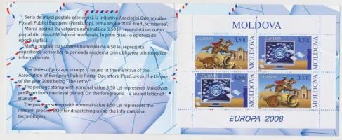 2008 Europa CEPT: Levélírás bélyegfüzet MH 12