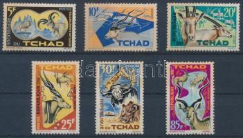 1965 Védett állatok sor Mi 129-134 (néhány bélyegen halvány rozsdafolt)