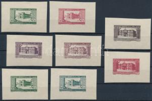 1943 A függetlenség 2. évfordulója 4 érték fogazatlan kis alakú blokk változata, mindegyik 2 féle színben (apró betapadások) / Mi 267-270 imperforated mini blocks, each in 2 colour variety (light gum disturbances)
