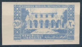 1943 Gyógyszerészeti kongresszus Mi 278 fogazatlan felülnyomás nélküli változat / Mi 278 imperforate, without overprint