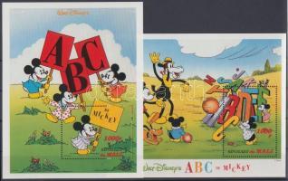 1996 Walt Disney: Mickey Egér és az ABC kisív sor Mi 1622-1648 + blokk pár Mi 93-94