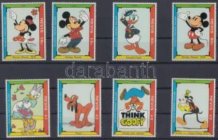 1992 Walt Disney sor Mi 689-696 + blokk pár Mi 51-52