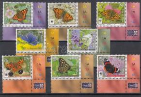 2011 Lepkék, 50 éves a WWF ívsarki sor Mi 1667-1674