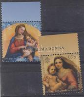 The Sistine Madonna and Madonna di Foligno are 500 years old set + mini sheet pair, 500 éves a Sixtusi Madonna és Madonna di Foligno sor + kisívpár