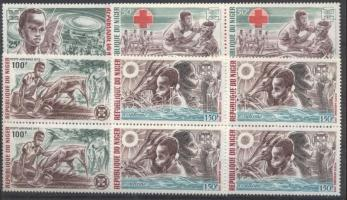 1973 Cserkész sor négyestömbökben Mi 370-373