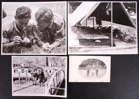 4 db háború előtti cserkészfotó 18x24 és 9x14 cm-es méretek között / Pre-war scout photos