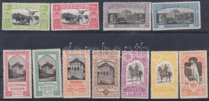 1906 Bukaresti jubileumi kiállítás Mi 197-207