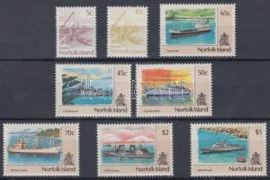 1990/1991 Forgalmi: Hajók 2 klf sor Mi 480-483, 495-498