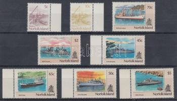 1990/1991 Forgalmi: Hajók 2 klf ívszéli sor Mi 480-483, 495-498