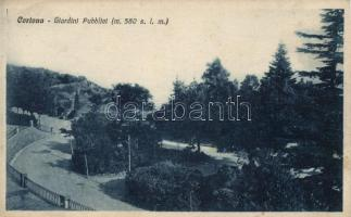 Cortona, public garden