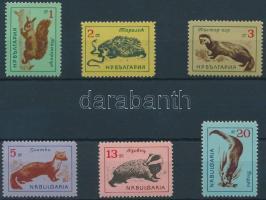 1963 Erdei állatok sor Mi 1377-1382 (2ct értéken apró betapadás)