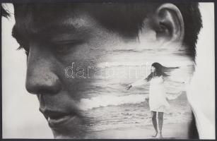 cca 1960-70 Ismeretlen szerző fotómontázsa, 15x24 cm