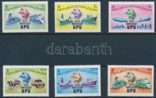 1974 100 éves az UPU sor Mi 514-519