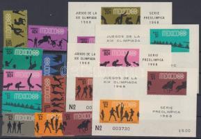 1968 Nyári olimpia: Mexikó (IV.) sor Mi 1261-1270 + blokk sor Mi 11-14