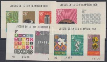 1968 Nyári olimpia: Mexikó blokk sor Mi 15-18
