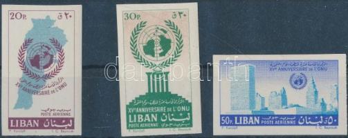 1961 15 éves az ENSZ vágott sor Mi 709B-711B