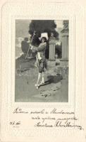 Úriember, Art Nouveau Emb. litho, Gentleman Emb. litho