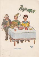 Katona és szerelme, étterem, humor s: Szabó K., Military humour s: Szabó K.