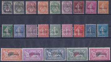 1931 Forgalmi sor felülnyomással / Definitive set with overprint Mi 1-23 (5Fr, 10Fr, 20Fr falcos / hinged)