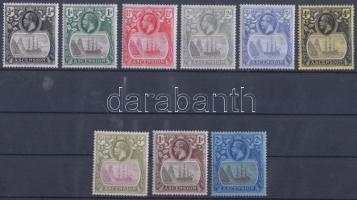 1924/1933 Forgalmi bélyegek Mi 10-16, 19-20 (5P, 1Sh, 2Sh postatiszta)