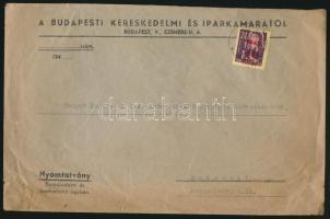 1945 (2. díjszabás) Nyomtatvány Kisegítő 40f/24f bélyeggel