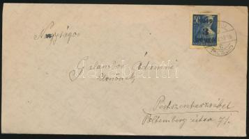 1945 (2. díjszabás) Távolsági levél Kisegítő 3P/50f bérmentesítéssel