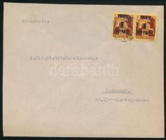 1945 (2. díjszabás) Helyi levél 2x Kisegítő 1P/20f bérmentesítéssel