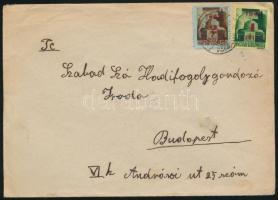 1945 (2. díjszabás) Távolsági levél Kisegítő 2P/20f + 1P/1P bérmentesítéssel