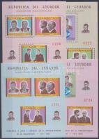 1967 John F. Kennedy 50. születésnapja sor Mi 1374-1379 + blokk sor Mi 43-46