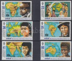 1996 UNICEF, térképek Mi 727-732