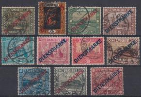 1922 Hivatalos Mi 1-10 + 11 II