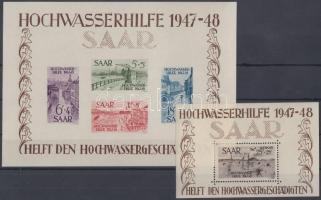 1948 Árvíz blokkpár Mi blokk 1-2 (bl 1 pici gumihiba / gum disturbance)