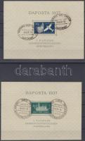 1937 DAPOSTA bélyegkiállítás Mi blokk 1a+b + 2a+b (apró hibák / minor faults)