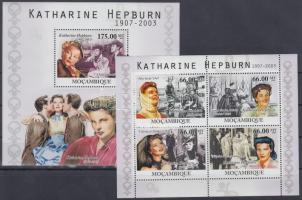 2010 Katharine Hepburn kisív Mi 4220-4223 + blokk Mi 396