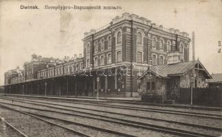 Daugavpils, Dwinsk; railway station