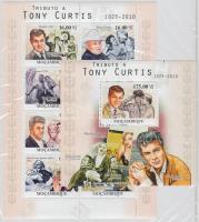 2010 Tony Curtis kisív Mi 4096-4103 + blokk Mi 378