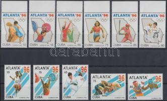 1995-1996 Atlantai nyári olimpia sorok Mi 3842-3847 + 3899-3903