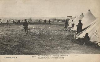 Thessaloniki, Salonique; French military camp